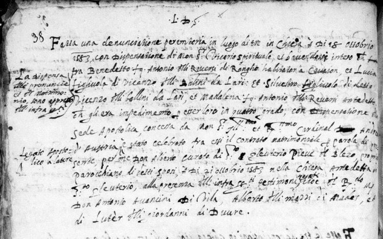 1583 Reversi Ballina double wedding, Santa Croce del Bleggio.