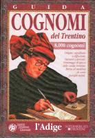 BOOK: Guida cognomi del Trentino, by Aldo Bertoluzza