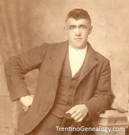 1910 - Luigi Parisi of Duvredo, Bleggio, Trentino