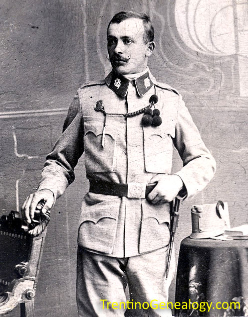 1915 - Luigi Pietro Serafini, in Austro-Hungarian army uniform during World War 1