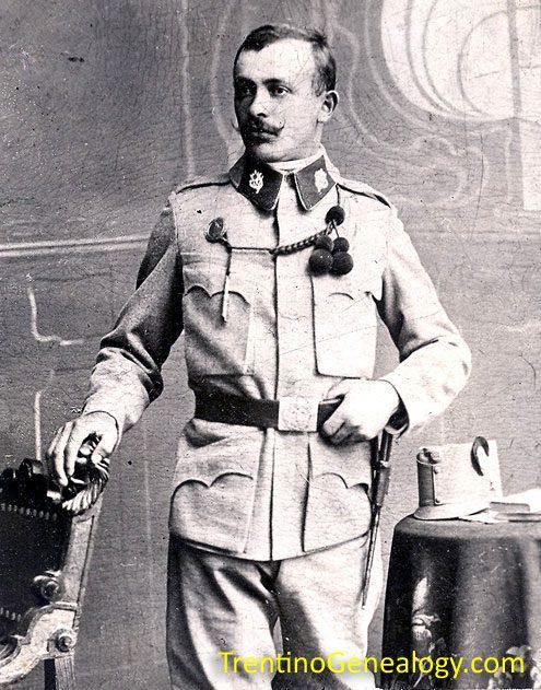 1915 - Luigi Pietro Serafini, in Austro-Hungarian army uniform during World War 1
