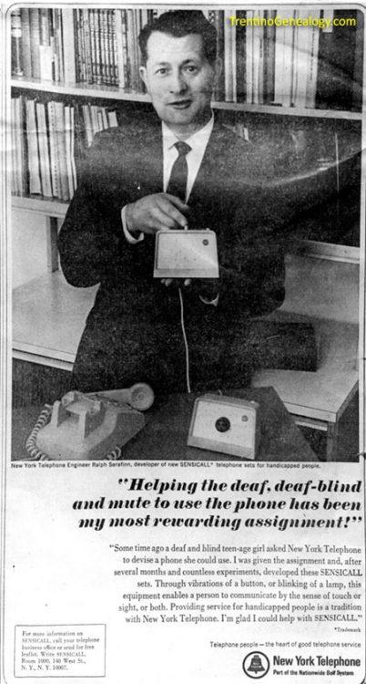 1965 - Ralph Serafinn and the 'Sensicall'