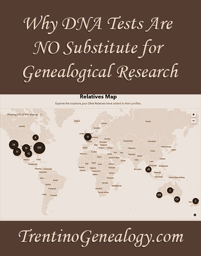 Why DNA Tests Are NO Substitute for Genealogical Research