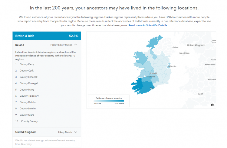 23AndMe - Irish subgroups 2019