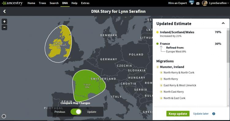 AncestryDNA ethnicity map 2018