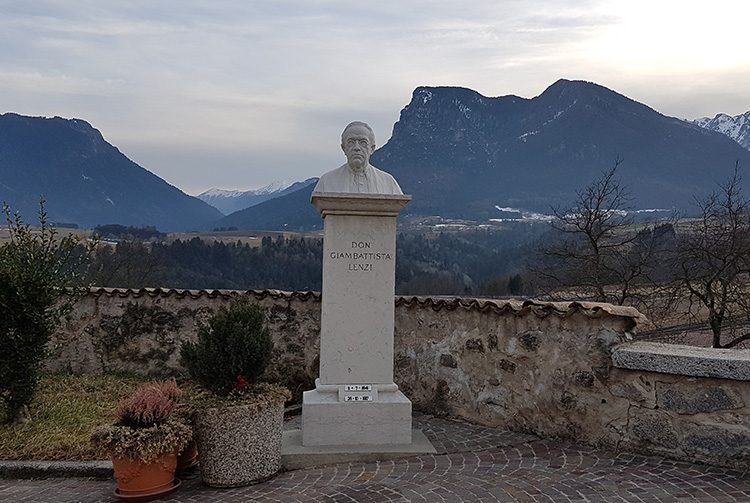Memorial to don Giovanni Battista Lenzi, Santa Croce del Bleggio, Trentino