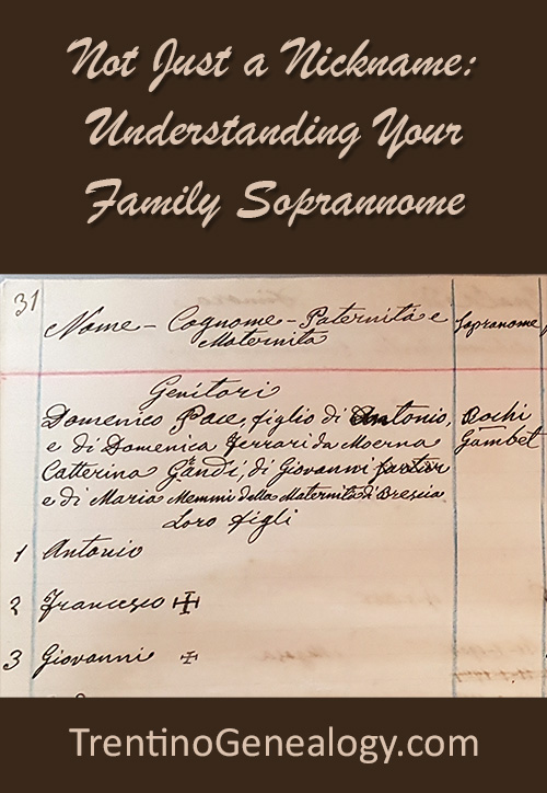 Not Just a Nickname: Understanding Your Family Soprannome