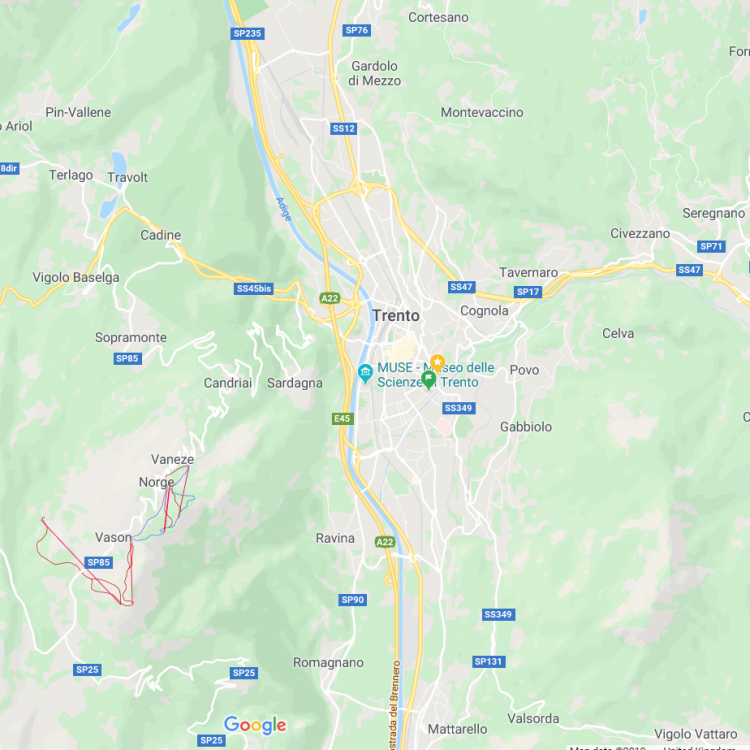 MAP - Municipality of Trento in 2020