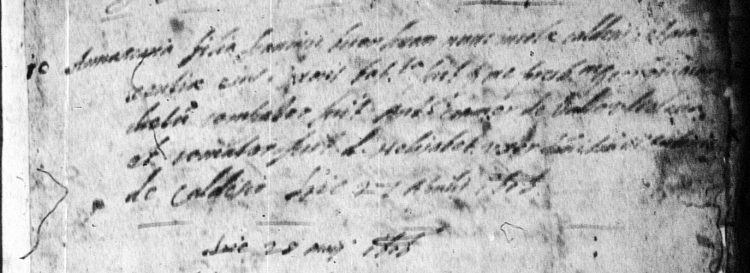 1606 baptismal record from Caldes for Anna Maria Bonomi